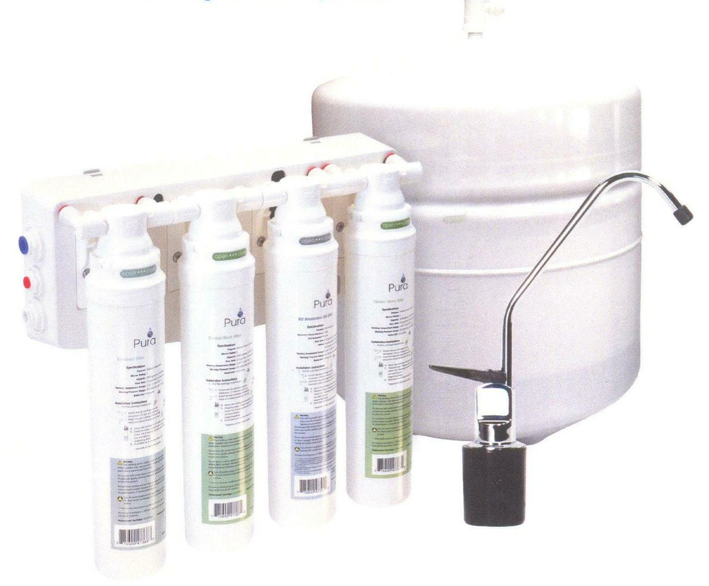 4 stage RO, auto fill/shutoff, deluxe pure water filter